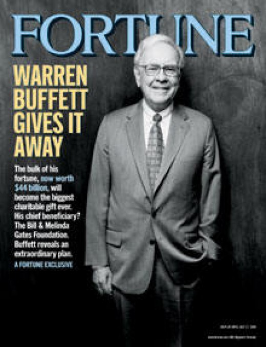 Warren Buffett started the Buffett foundation with much of his hard earned money. He donated another 2.5 billion when his wife passed away and renamed it for her. A true kind man of charity.
