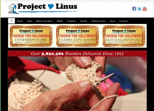 The Project Linus website; screenshot by AliciaC
