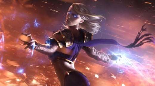 Jaina as she appears in Hearthsone Trailer