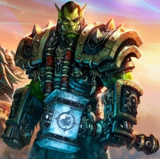 Thrall with the legendary Doomhammer