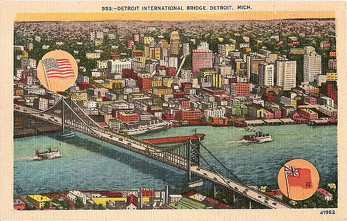 The bridge was first called the Detroit International Bridge.