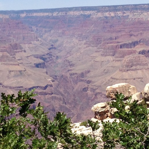 Grand Canyon, the valley leading from the Colorado River to the North Rim