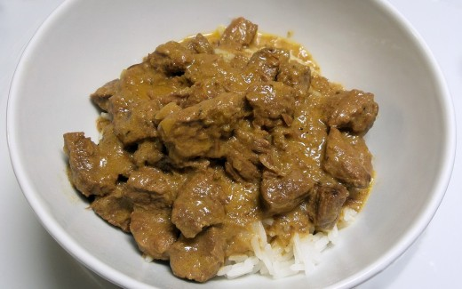 A hearty serving of Russian beef stroganoff