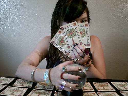 Telling someone's future is a part of divination. There are dangers to every form of fortune telling.