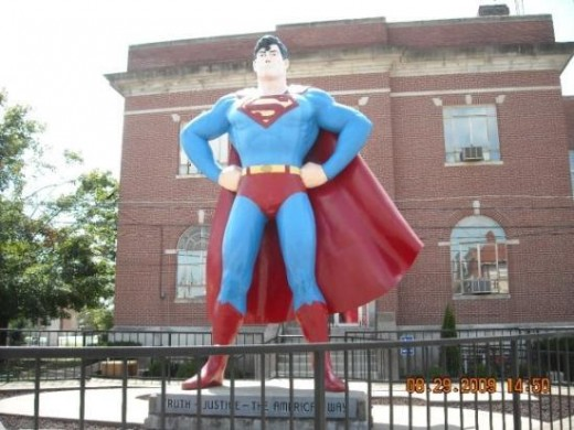 Hometown of Superman; Metropolis, Illinois