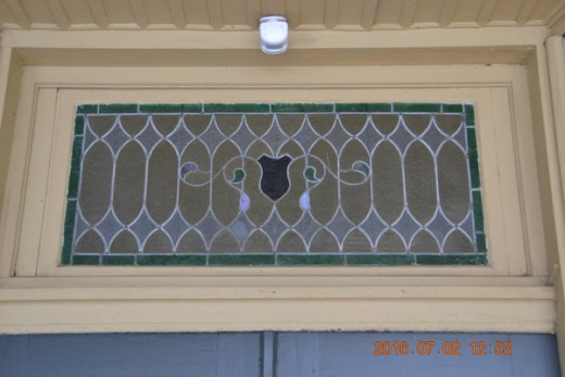 Interesting Stained Glass examples abound along the street fronts.