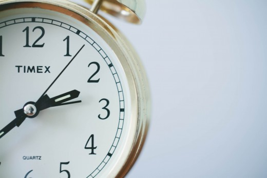 "When talking about clock time, the correct preposition of time is ""at."""