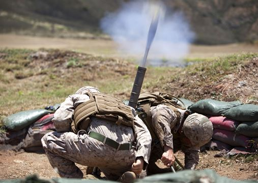 Infantry, such as mortarmen, forms the backbone of Marine Corps ground combat elements.
