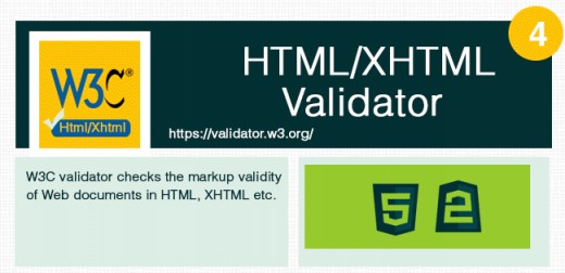 Useful to check html or xhtml documents errors.