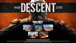 "Screen shot of Treyarch's Call of Duty: Black Ops III ""Descent"" DLC poster."
