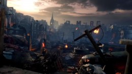 "A look at the landscape of Stalingrad in Black Ops 3 Zombies ""Gorod Krovi""."