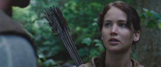 Jennifer Lawrence as Katniss Everdeen in 'The Hunger Games'.