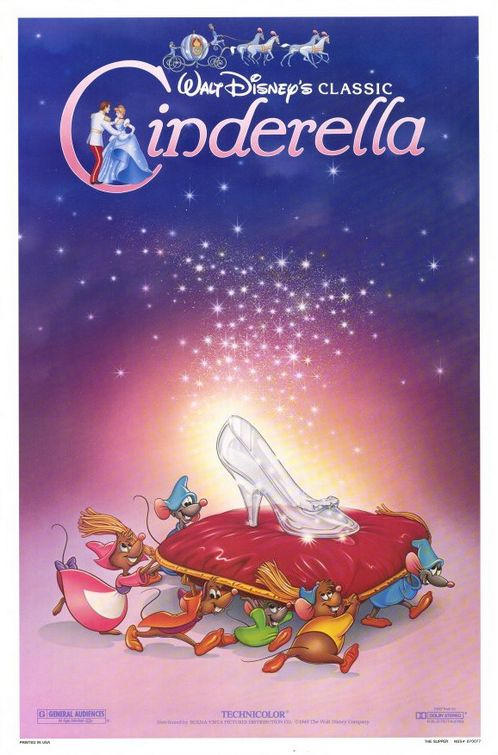 Movie poster for Disney's Cinderella. Property of Walt Disney Pictures.