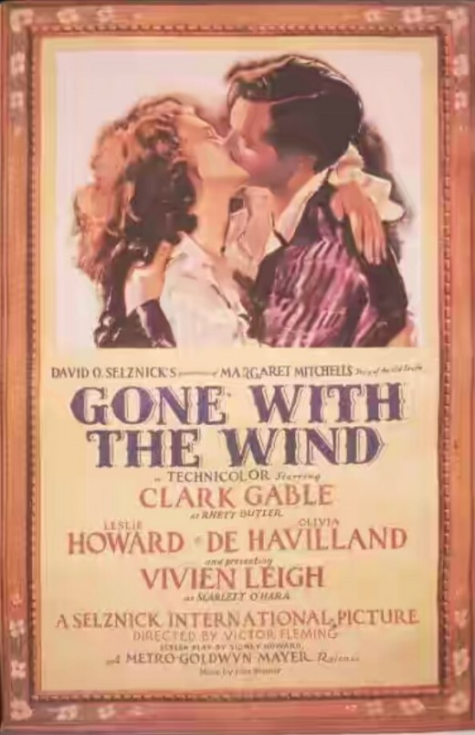 Rerelease posture of  the movie 'Gone With the Wind'