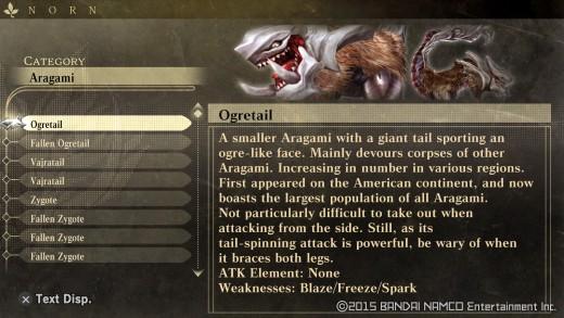 God Eater: Resurrection - Database, Ogretail