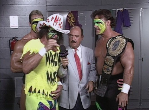 """Macho Man"" Randy Savage, Lex Luger and Sting. Also ""Mean"" Gene is there!"