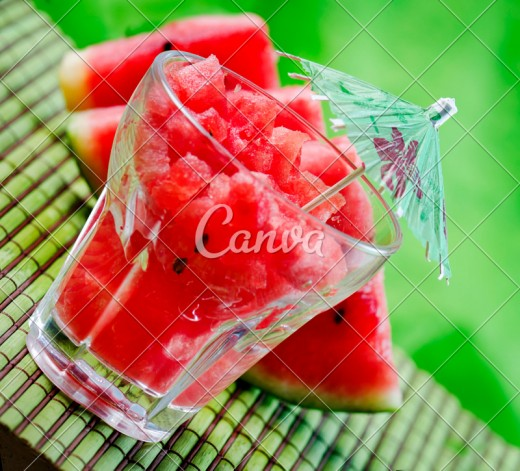 A Serving of Two-Cups of Watermelon will provide adequate amounts of Potassium, Lycopene, Vitamins A, C, and B6