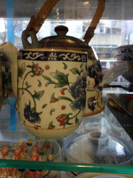 So art is found on Chinese everyday products. Disappearing sometimes as China is going Western( modern?). Subconscious happiness.