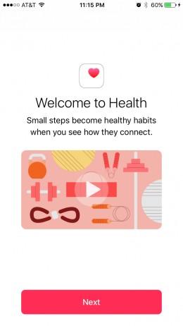 Open the Health app.