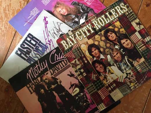 Bay City Rollers, Motley Crue, Poison, Faster Pussycat albums