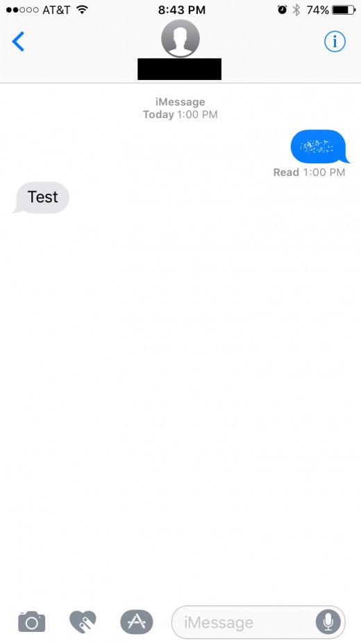 Tap the dots to view the message for roughly five seconds before the message reverts back to dots.