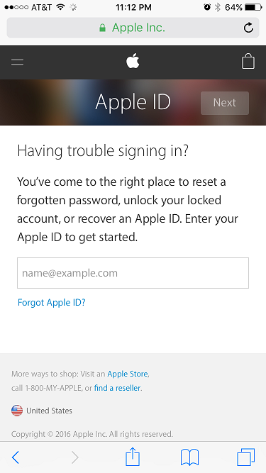 The www.iforgot.apple.com website you can access to have directions around how to reset your Apple ID sent to you.