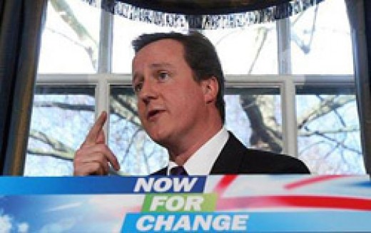 Out going PM David Cameron