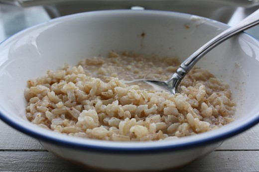 It's estimated that Americans eat 25 pounds of rice per year, but almost none of it is consumed in the morning.