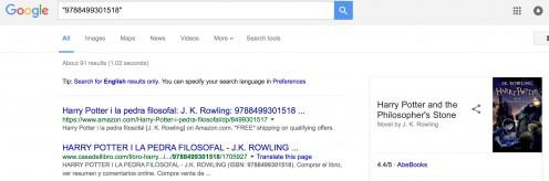 """""""Exact Search"""" Modifier Example Screenshot"""