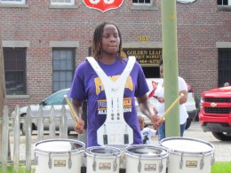 This amazing little drummer was also a part of the parade on Saturday.