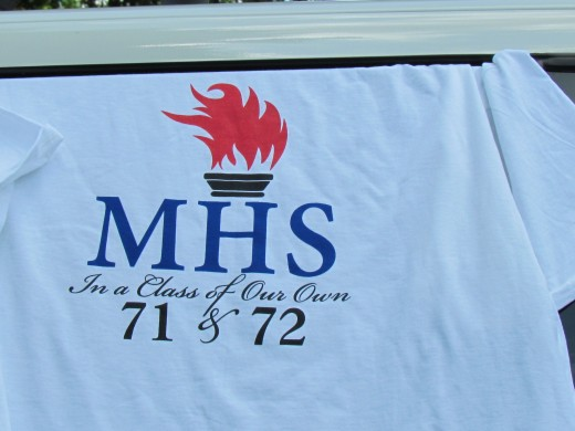 The MHS T-Shirt that was designed by Thomas Hughes, with the assistance of others.