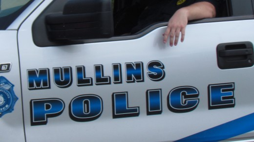 A police car from Mullins, SC rode in the parade on Saturday as well.