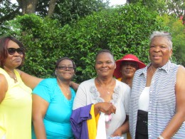 Carolyn Canty, along with members of her family joined in the festivities at the park.
