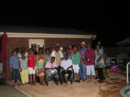 Classmates of the 1971 and 1972 Classes gathered for a quick photo on Friday evening.