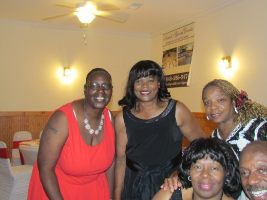Angelladywriter, is joined by her sister-in-law Tina, Geraldine and their cousin at this reunion of classes.