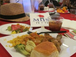 A plate of the delicious food that was served.