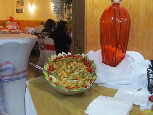 A mixture of delicious Pasta salad, was on the menu as well.