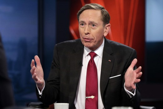 March 17, 2016, file photo: CIA Director and retired Gen. David Petraeus is interviewed on the Fox Business Network, in New York.