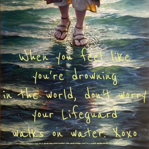 Remember Who Walks on the Water, He Is Your Answer and Saving Grace!!