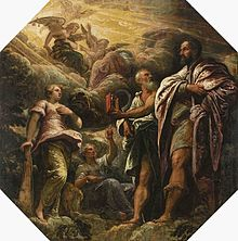 Allegory with a portrait of a Venetian senator  attributed to Tintoretto, 1585