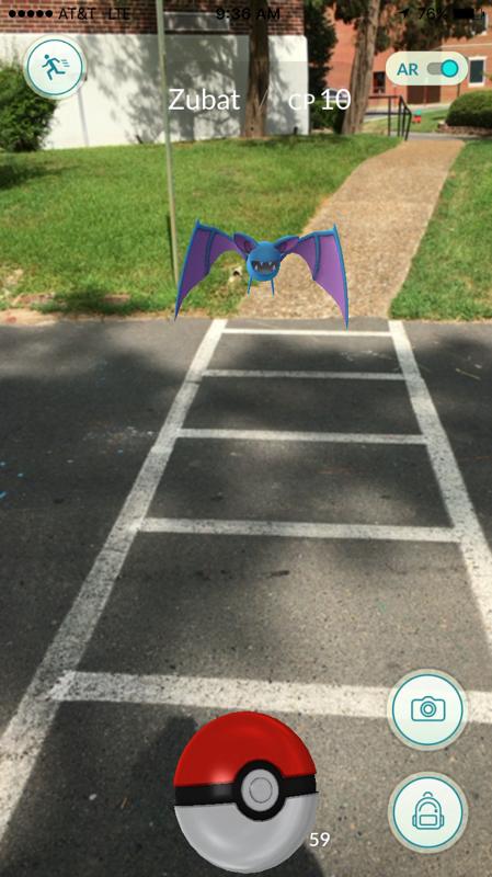 A Zubat in a Crosswalk at Henderson State University in Arkadelphia, Ark.