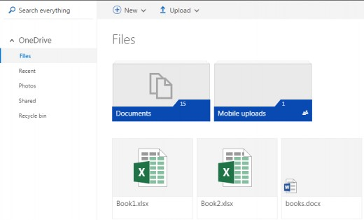 OneDrive page