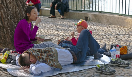 A Chinese family with one child in Beijing, China.