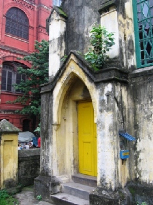 Wesleyan Church's entrance