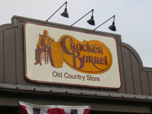 On our way down south we stopped at Cracker Barrel for breakfast.