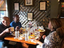 Each of us had the sunrise sampler breakfast which was an abundance of delicious food. Christina, was our server.