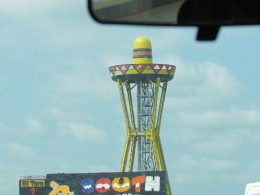 South of the Border's tall hat that welcomes you upon your arrival in Dillon, SC.