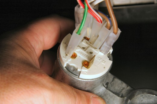 Ignition switch connections.