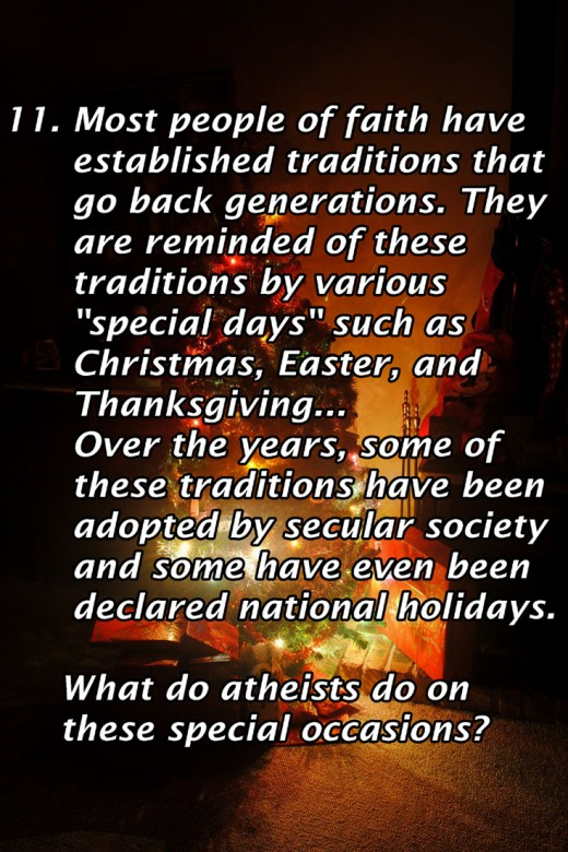 How do atheists celebrate the holidays Christians have co-opted as their own?
