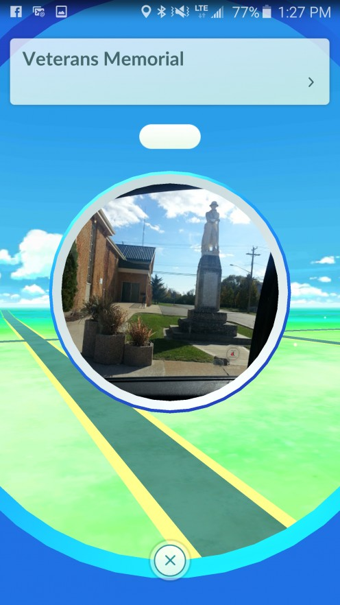 Clicked on the Pokestop while standing beside it.